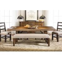 Обеденный стол, стулья и скамья